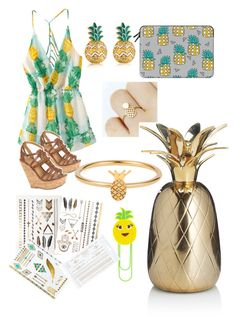 """""""pinapple"""" by lara02oktober ❤ liked on Polyvore featuring Casetify, MBLife.com, Delicious, MANGO, Topshop and Lee Renee"""