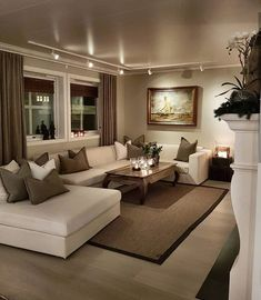 Cozy Small Living Room Decor Ideas For Your Apartment - .- Cozy Small Living Room Decor Ideas For Your Apartment – Home – Source by interiorrsde - Beige Living Rooms, Cozy Living Rooms, Home Living Room, Apartment Living, Interior Design Living Room, Classy Living Room, Living Area, U Shaped Couch Living Room, Track Lights Living Room