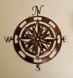 Compass nautical bathroom
