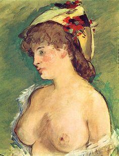 Édouard Manet - La Blonde aux seins nus