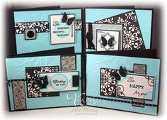 Well, today I promised a very special Verve challenge and here it is. It's a 6 x 6 one sheet wonder challenge to make four cards using one One Sheet Wonder, Card Patterns, Butterfly Cards, Scrapbook Cards, Scrapbooking, Cool Cards, Cards Diy, Card Sketches, Paper Cards