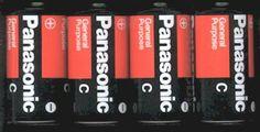 4 C Batteries - Panasonic