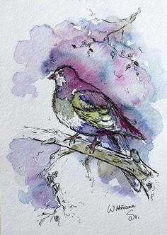 ORIGINAL Watercolor Artwork 15x21 cm - 1