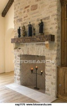 Good Cost-Free Stone Fireplace makeover Suggestions Debris as well as filth might go unseen around the less heavy aging of jewel fireplaces in contrast to large rock, on th Stone Fireplace Mantles, Living Room Decor Fireplace, Basement Fireplace, Farmhouse Fireplace, Home Fireplace, Fireplace Remodel, Fireplace Design, French Country Fireplace, Painted Stone Fireplace