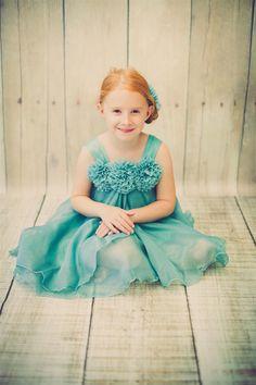 Shinny Chiffon babydoll dress - Teal