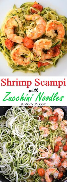 Shrimp Scampi with Zucchini Noodles - a quick and easy dinner that tastes great and is healthy, low carb and gluten-free.