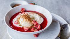 Jordbærsuppe Frisk, Panna Cotta, Sweet Treats, Food And Drink, Vegetables, Ethnic Recipes, Desserts, Room Decor, Teen