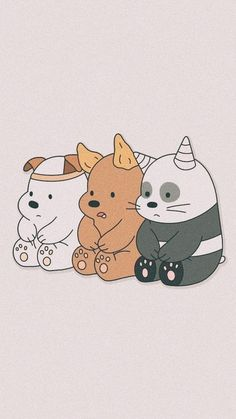 Wallpaper of the day We Bare Bears Wallpapers, Panda Wallpapers, Cute Cartoon Wallpapers, Wallpapers Android, Simple Wallpapers, Ice Bear We Bare Bears, We Bear, Cute Panda Wallpaper, Bear Wallpaper