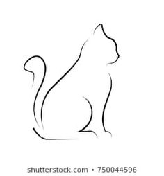 Similar images, stock photos & vectors of black silhouette of cat. - Similar images, stock photos & vectors of Black Silhouette Cat Vector Illustration – 135200882 Logo Gato, Cat Logo, Cat Silhouette Tattoos, Black Silhouette, Cat Drawing, Line Drawing, Cat Outline, Dragon Tattoo For Women, Cat Tattoo Designs