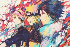 Team 7 - Naruto<<< this would be an amazing wallpaper 0_0