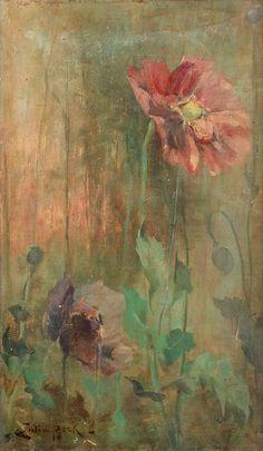 Julia Beck (1853-1935) - Poppies