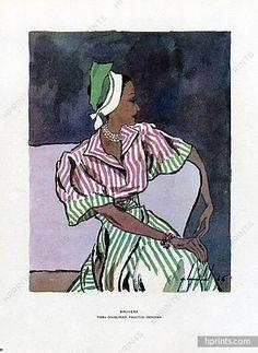 Bruyere Summer dress - 1946. Illustrated by Pierre Louchel