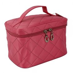 Rhombus Pattern Makeup Cosmetic Bag Pink is going up for auction at  1pm Fri, May 10 with a starting bid of $13.
