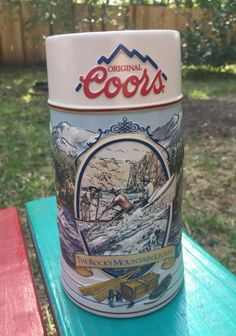 Vintage Coors 1992 Ceramic The Rocky Mountain Legend Series Beer Stein 124308