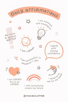 Affirmations Positives, Positive Self Affirmations, Note To Self, Self Love, Self Care Bullet Journal, Vie Motivation, Get My Life Together, Mental And Emotional Health, Self Care Activities