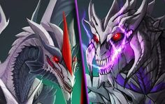 Starscream  Megatron as  dragons...if I saw this, I'd either be fascinated or I would run for my life