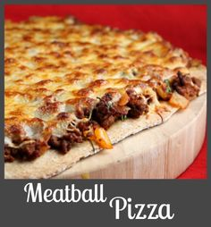 Meatball Pizza #recipe > big-time family-favorite weeknight dinner recipe. The kids gobble this one up!