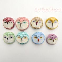 Owl Heas Brooches   # Pinterest++ for iPad #