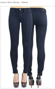 Also the high rise jegging  in a dark denim. Another great option for a gals night out!