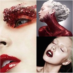 Red Glitter makeup inspiration to reflect on World Aids Day