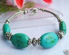 Exquisite Tibet Silver Turquoise Bracelet