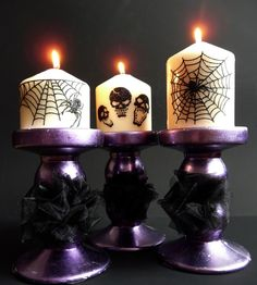 Purple is a very beautiful and dramatic color, and what can be better for Halloween décor? It will look amazing, believe me! Purple Halloween, Halloween Boo, Halloween Birthday, Halloween Design, Halloween House, Holidays Halloween, Halloween Crafts, Halloween Decorations, Halloween Ideas