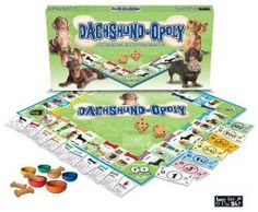 Doxy News. Super Cute puppy Items for your home.  Wiener Dog Monopoly! The blog links you to the actual Dachshund item to buy.