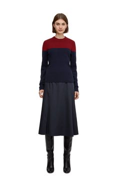 Wool & Yak Jumper - Dark Blue - Knitwear - ARKET ES