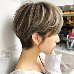 Pin on ショートヘア Short Hair Undercut, Cute Hairstyles For Short Hair, Undercut Hairstyles, Blonde Asian, Asian Short Hair, Short Hair Cuts, Shot Hair Styles, Curly Hair Styles, Bob Hair Color