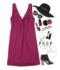 """""""Peeping Tom"""" by mplusk ❤ liked on Polyvore featuring LOFT, Forever 21, Alex and Ani, Topshop and CÉLINE"""