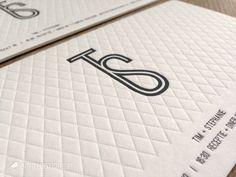 Huwelijksuitnodiging Letterpress Tim + Stephanie   wedding invitation letterpress   modern, classic, sophisticated, pattern, logo   sofiemustique.be