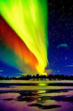 Beautiful Painted Sky, Aurora Borealis via pinterest