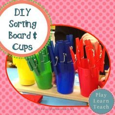 DIY Sorting board and cups!