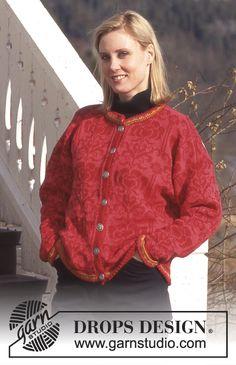 DROPS 52-12 - Jacke in Camelia (Camelia ist eine alte Qualität Alternativen siehe unten)