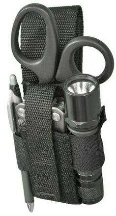 Tactical Light/Knife/Scissor Pouch EMT Pouch / Holster Holds Tactical-Flashlight, Folding Knives Up Tactical Survival, Survival Tools, Tactical Gear, Zombie Survival Gear, Molle Gear, Survival Videos, Apocalypse Survival, Survival Equipment, Edc Tools