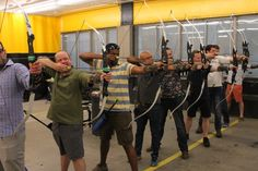 Archery, rage cage teambuilding at Sports de combats
