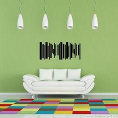 line trees sticker - wall decor