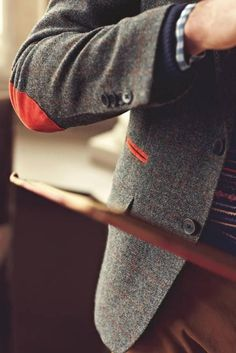 Orange Details on a Gray Coat
