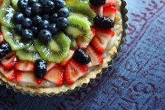 Vegan fruit tart *Not that hard, super delicious and very well received from non-vegans!*