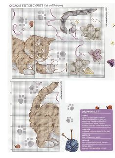 Here is an adorable pattern with kittens at play. Hope you like it!