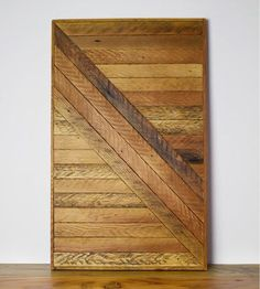 Right Diagonal Reclaimed Wood Wall Art | Art Pieces | Wood & Paper Co. | Scoutmob Shoppe | Product Detail