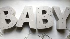 Broadway Baby | Marquee Letter Tutorial
