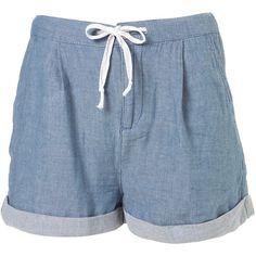 Blue Chambray Shorts ($60) via Polyvore