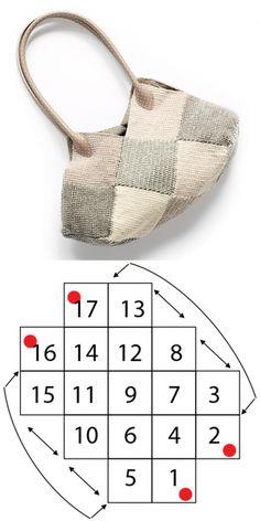 Сумка из квадратов идеально впишется в повседневный гардероб