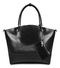 torebka kuferek skóra naturalna, kolor czarny w BAGS4JOY na DaWanda.com