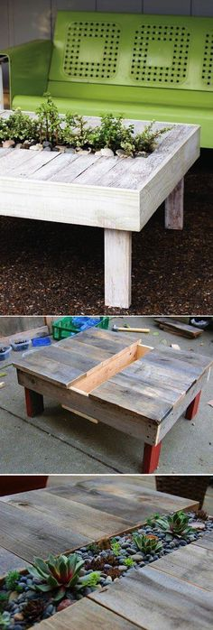 DIY Garden Table Using Wooden Pallets