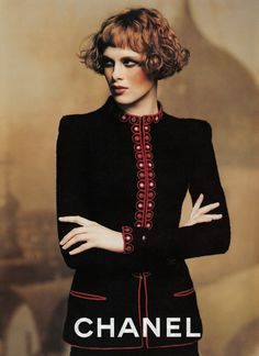 VINTAGE CHANEL · Chanel 1997 by Karl Lagerfeld. Model : Karen Elson