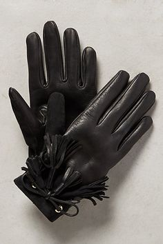 Lleida Tasseled Gloves #anthropologie