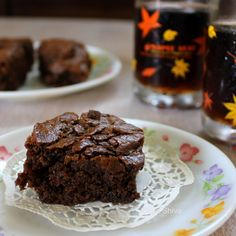 Eggless double chocolate brownie - who will mind a double dose of chocolate :)