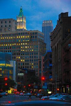 NYC. Manhattan. TriBeCa by night